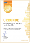 Immoscout Urkunde 2016